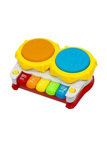 Birlik Oyuncak Pilli Işıklı Müzikli Ikili Piyanolu Eğitici Oyuncak Kaya Davul Renkli